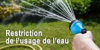 Restriction usage de l eau 200x100